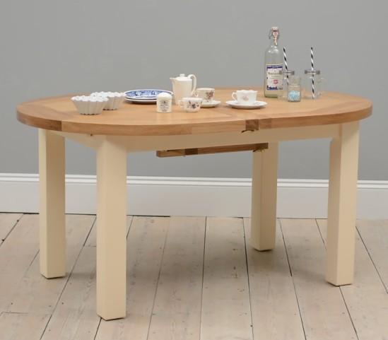 Canterbury Cream Painted 160-200cm Extending Table