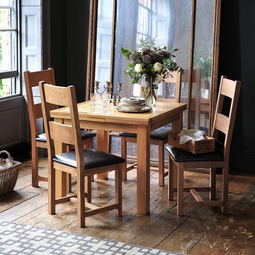 Oakland 90cm-155cm Square Extending Dining Table